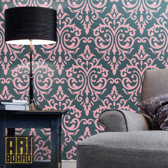 Damask Wall Pattern Self Adhesive Diy Wallpaper Home Decor L N 550x549