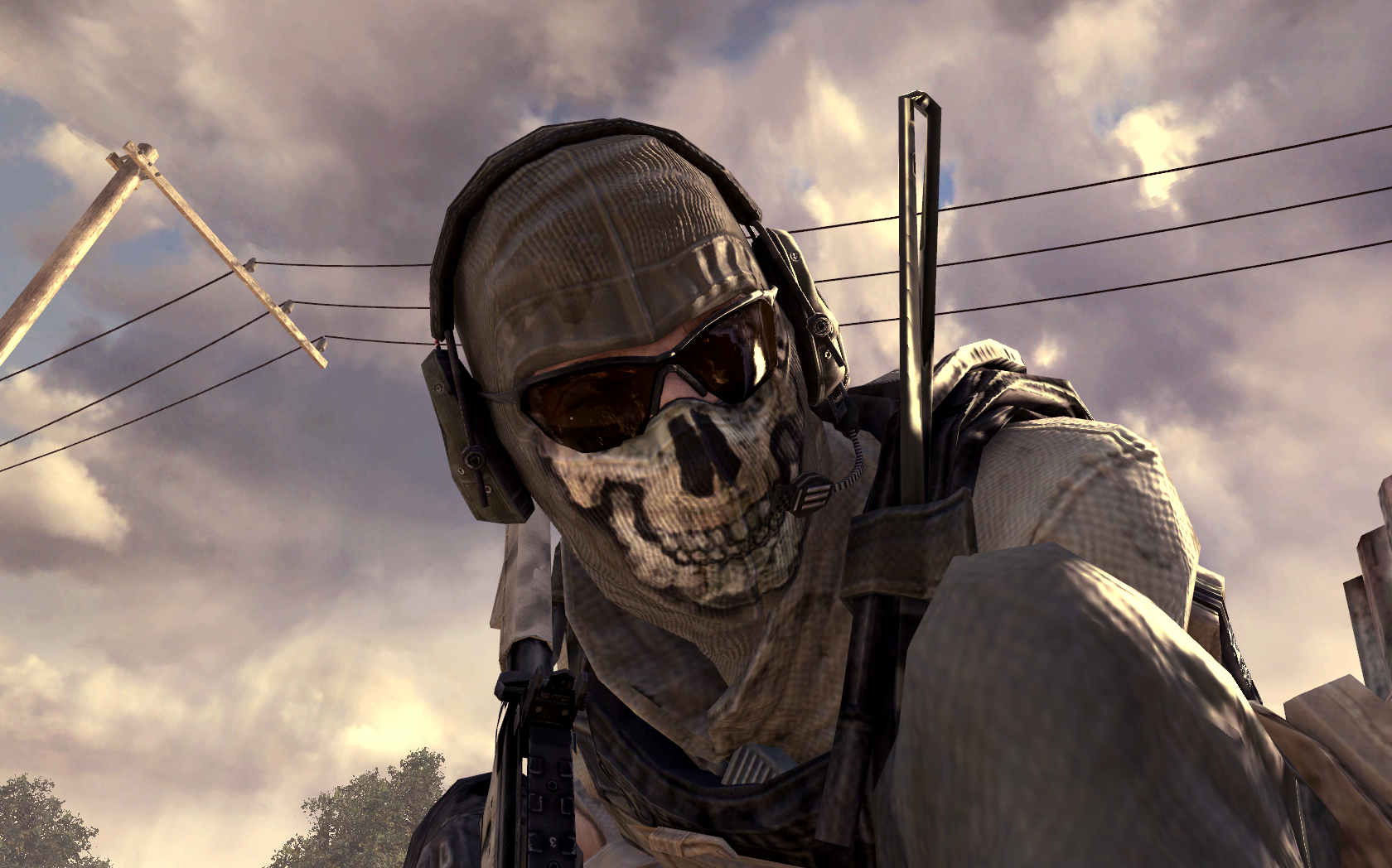 Ghost close-up MW2.png - The Call of Duty Wiki - Black Ops II, Ghosts ...