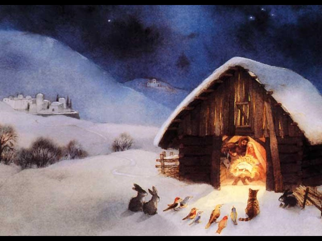 Animals in the Story of Christmas   My Merry Christmas 1024x768