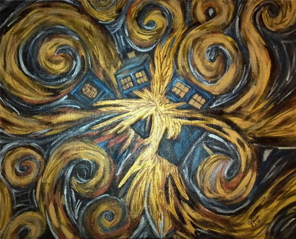 Van Gogh Wallpaper Tardis Exploding tardis by hawklawson