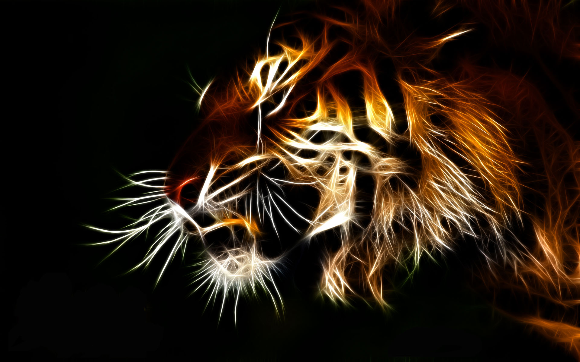 awesome red tiger background www