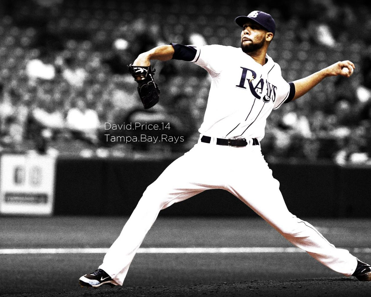 Simple tampa bay rays simplicity david price wallpaper 22855 1280x1024