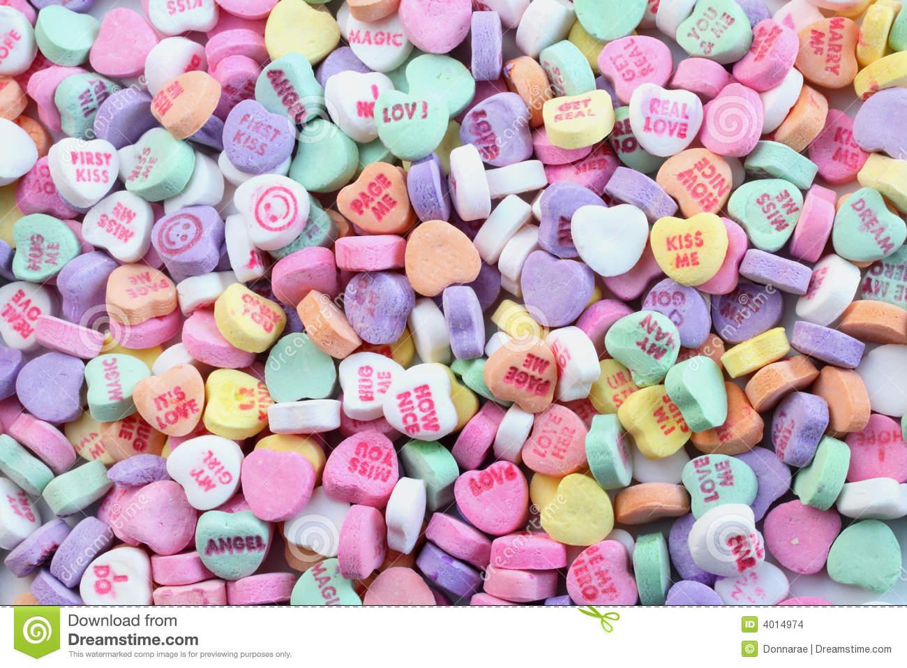Valentine's Day Candy Hearts Wallpaper - WallpaperSafari