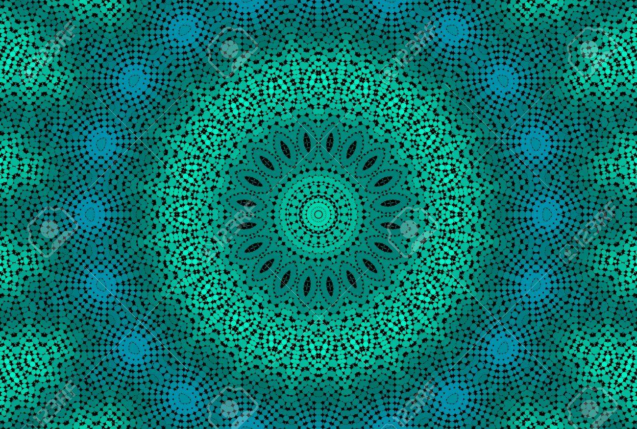 Abstract Emerald Background With Radial Dotted Pattern Stock Photo 1300x876