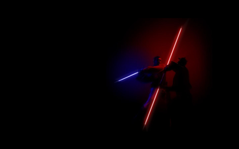 star wars light saber fight battle HD Wallpaper 1440x900