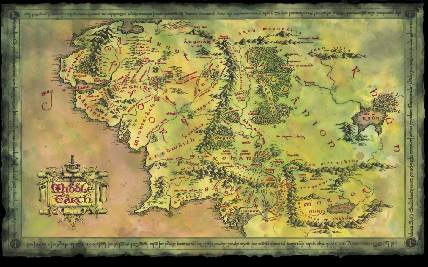 Lord Of The Rings Map wallpaper 4524 1440x900