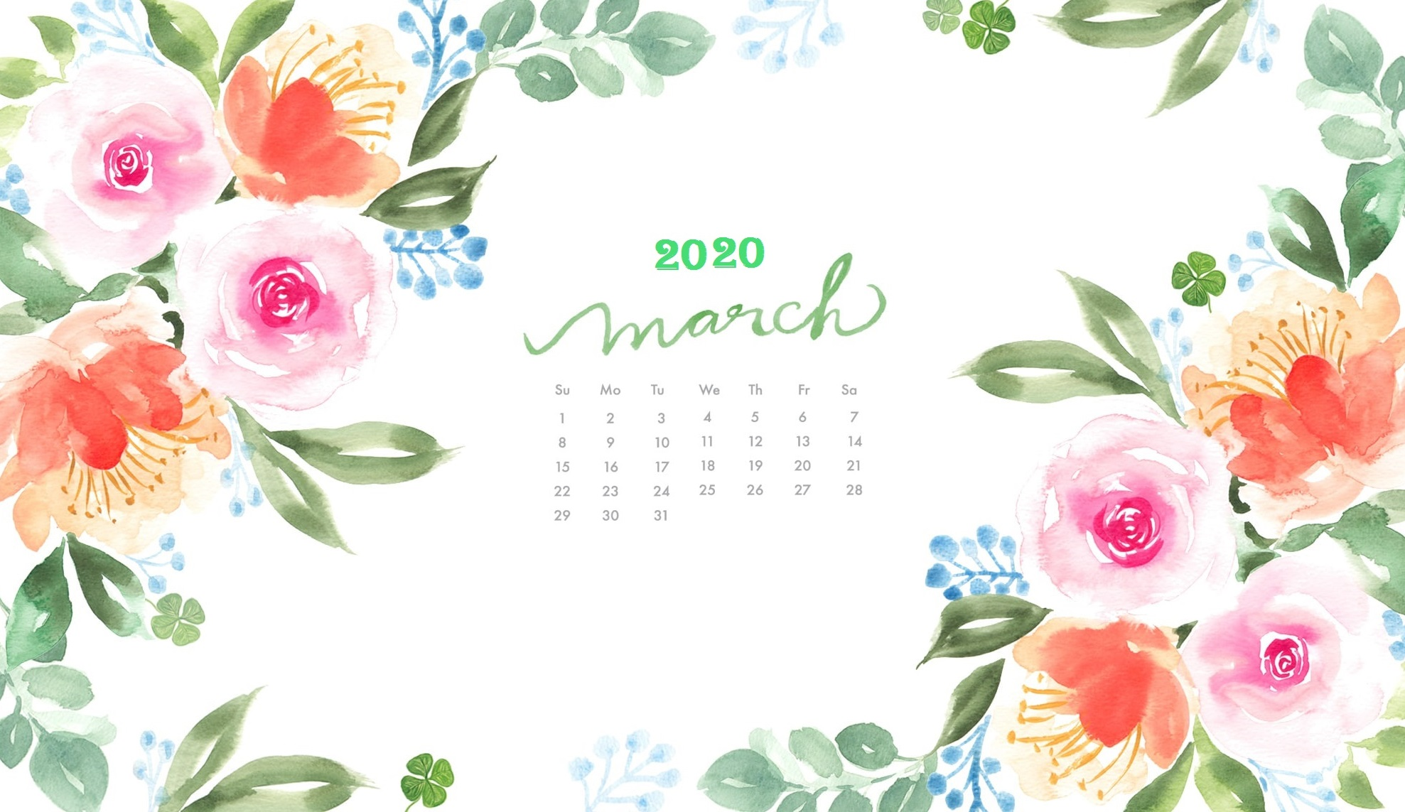 March 2020 Wallpaper Calendar Latest Calendar 1977x1143