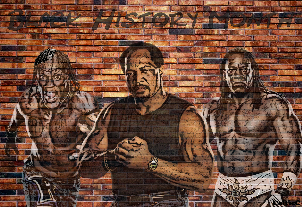 Black History Month WWE Wallpaper by CelticCataphract 1280x876
