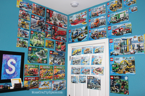 Lego Bedroom Wall This is his lego building 600x400