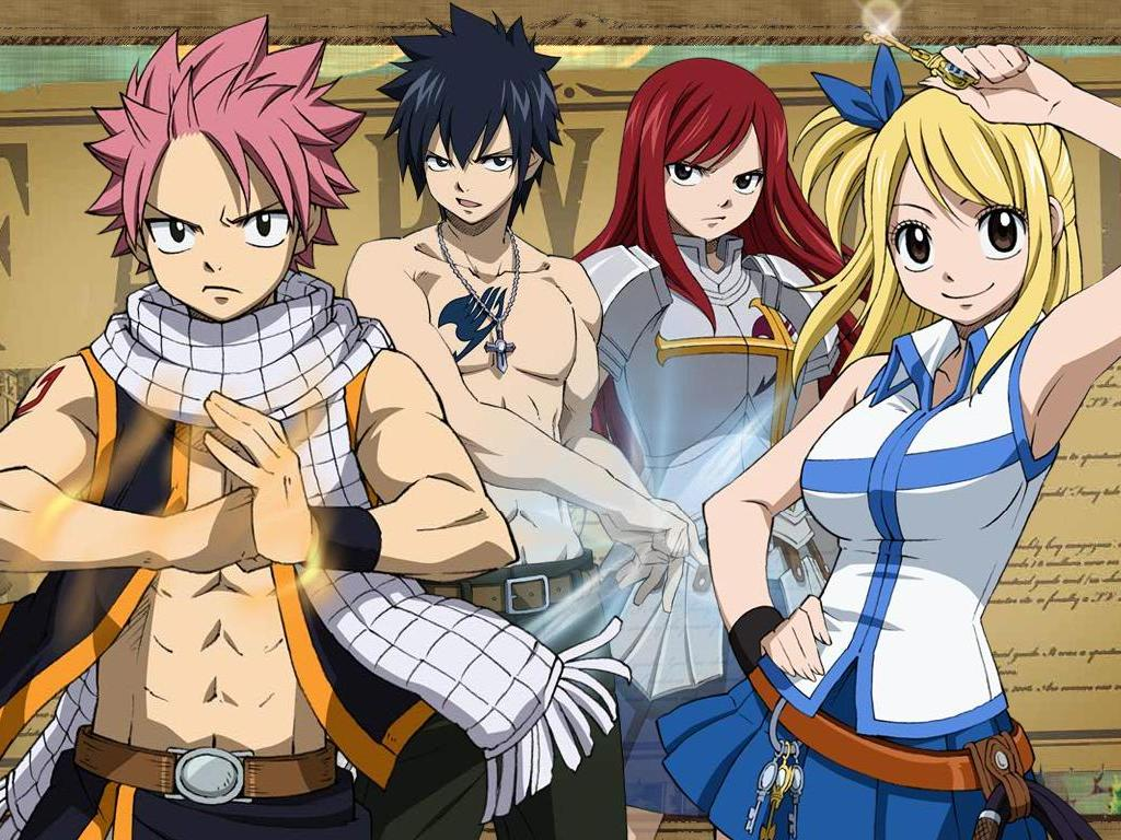 Anime Manga Wallpaper FairyTail Animated Wallpaper 1024x768