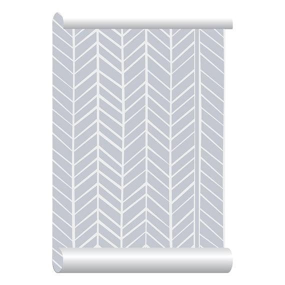 Self adhesive Removable Wallpaper Herringbone Grey Wallpaper Peel 570x570