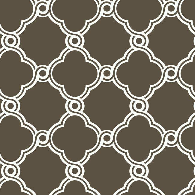Brown White AP7488 Open Trellis Wallpaper   Contemporary Modern 650x650