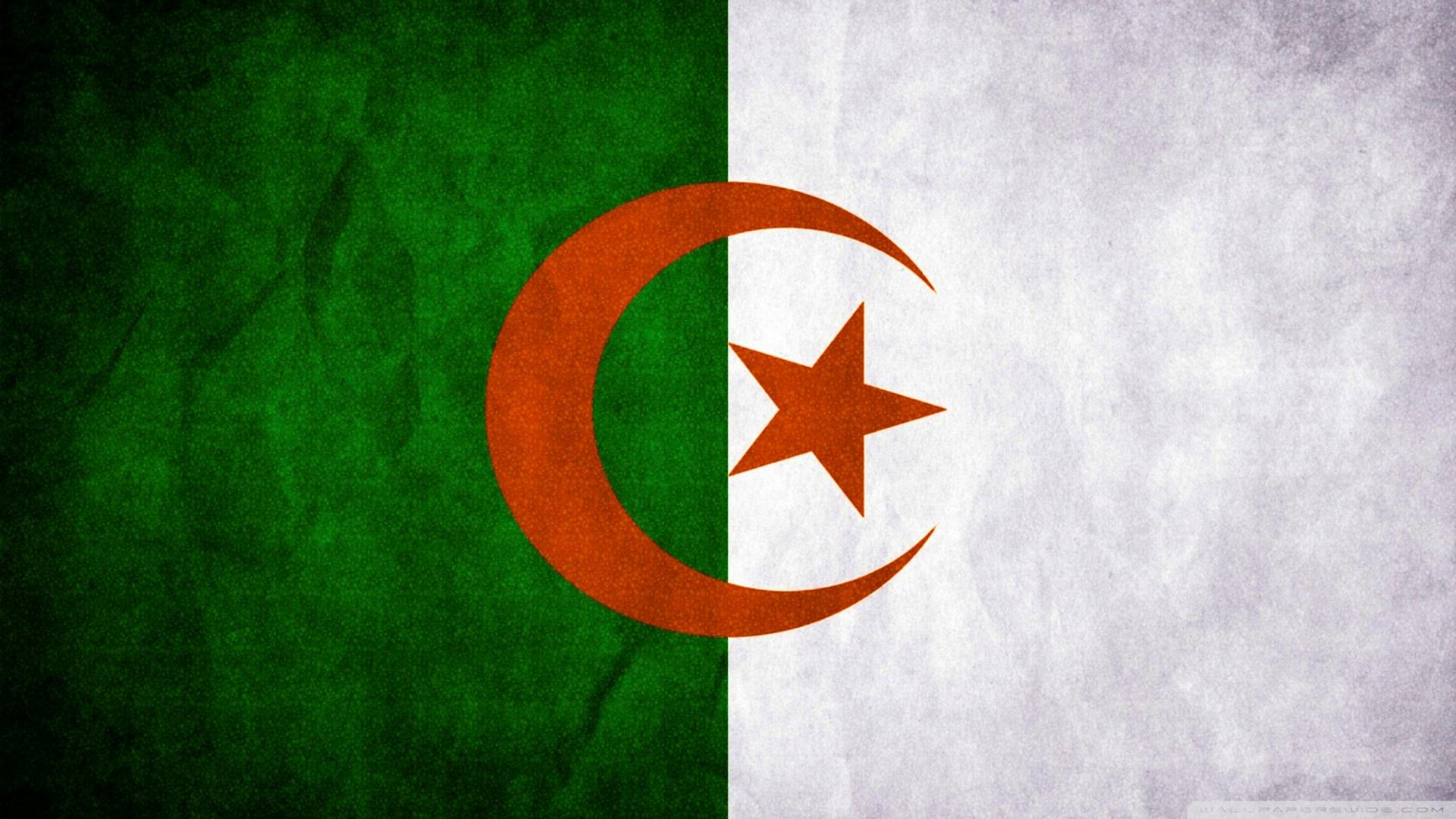 Algeria Flag 4K HD Desktop Wallpaper for 4K Ultra HD TV Dual 1920x1080
