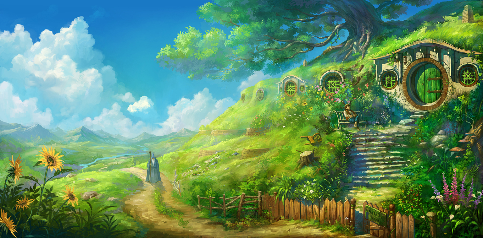 Once Upon A Time In Hobbiton by DaleComte 1536x758