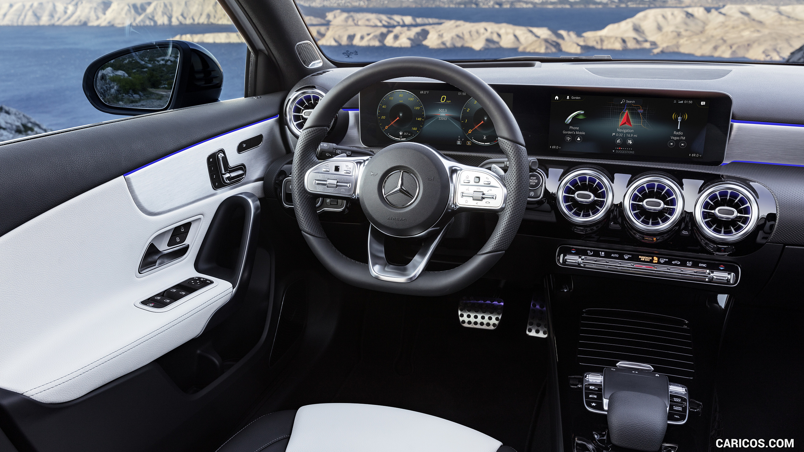 2019 Mercedes Benz A Class   AMG Line nevagreyblack Interior HD 2560x1440