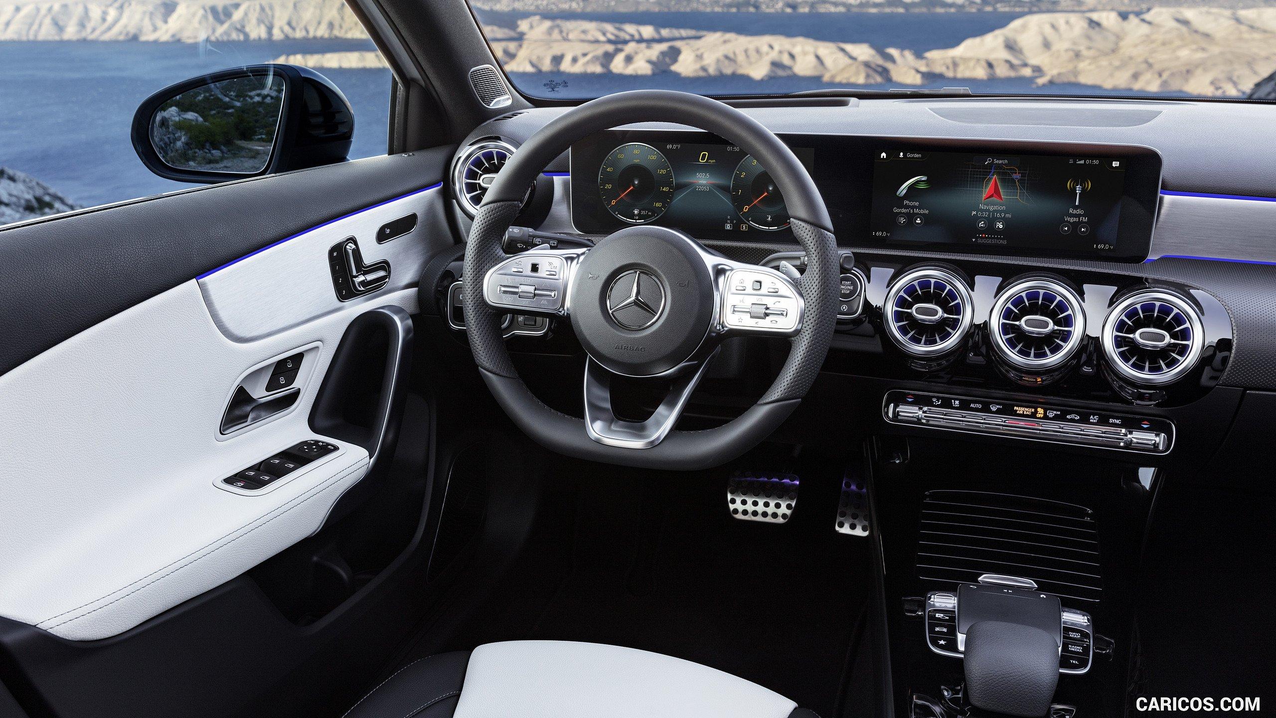 2019 Mercedes Benz A Class   AMG Line nevagreyblack Interior HD 2560x1440