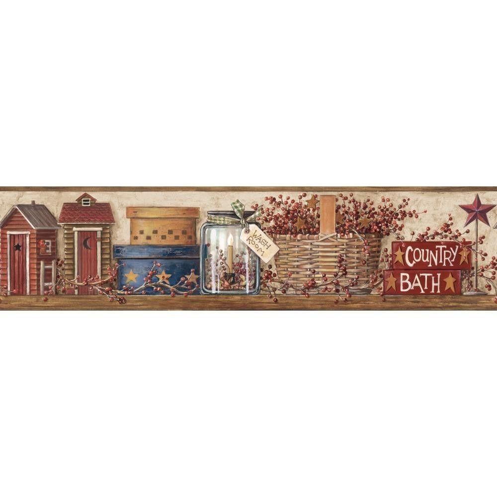 Country Bath Wallpaper Border by York eBay 1000x1000
