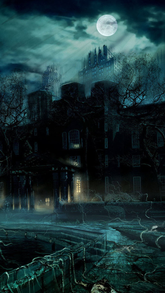 Terror Castle At Night Wallpaper   iPhone Wallpapers 576x1024