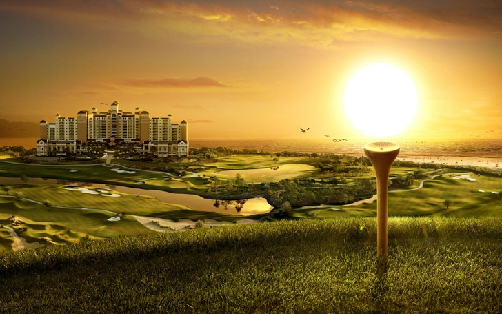 sunsets 3d view golf 1680x1050 wallpaper High Quality WallpapersHigh 728x455