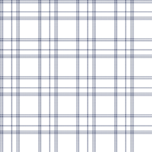 Deauville Plaid Wallpaper With A Marine Blue On Off 534x534