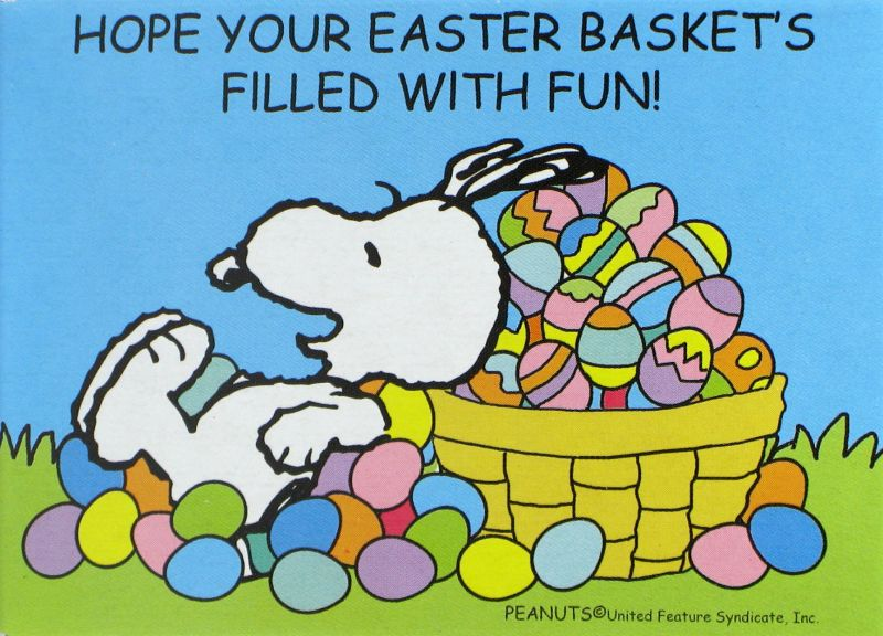 Snoopy Easter Mini Jigsaw Puzzle Snoopn4pnutscom 800x576