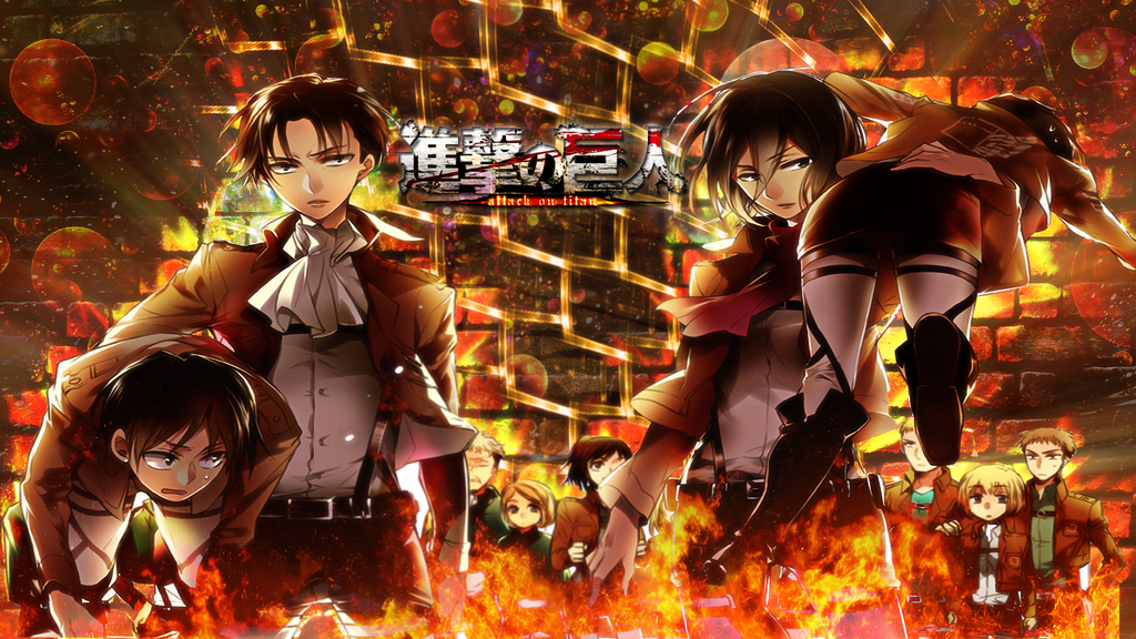 Attack on Titan Wallpaper by skeptec 1024x576