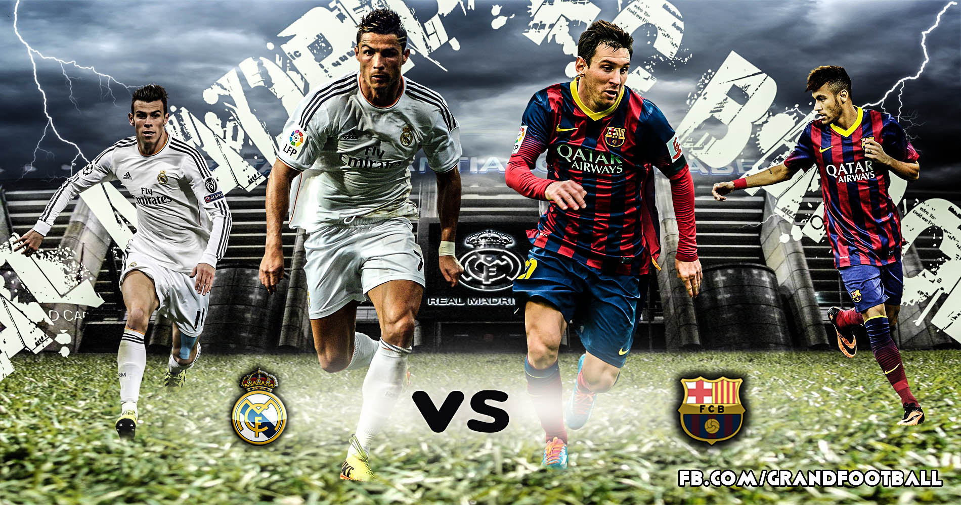 real madrid vs fc barcelona by lionelkhouya customization wallpaper 1900x1000