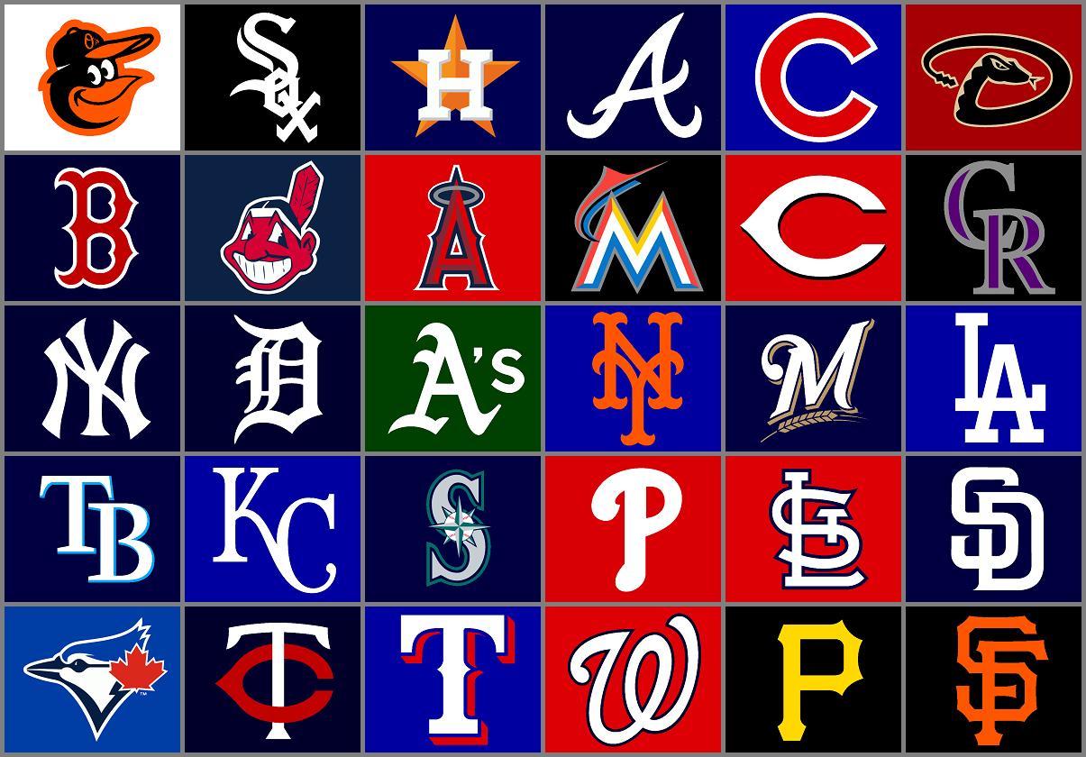 Major League Baseball team logos by Chenglor55 1205x840