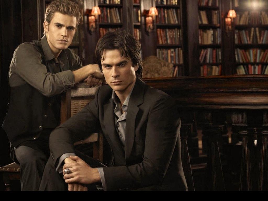 DamonStefan   Damon and Stefan Salvatore Wallpaper 24876920 1024x768