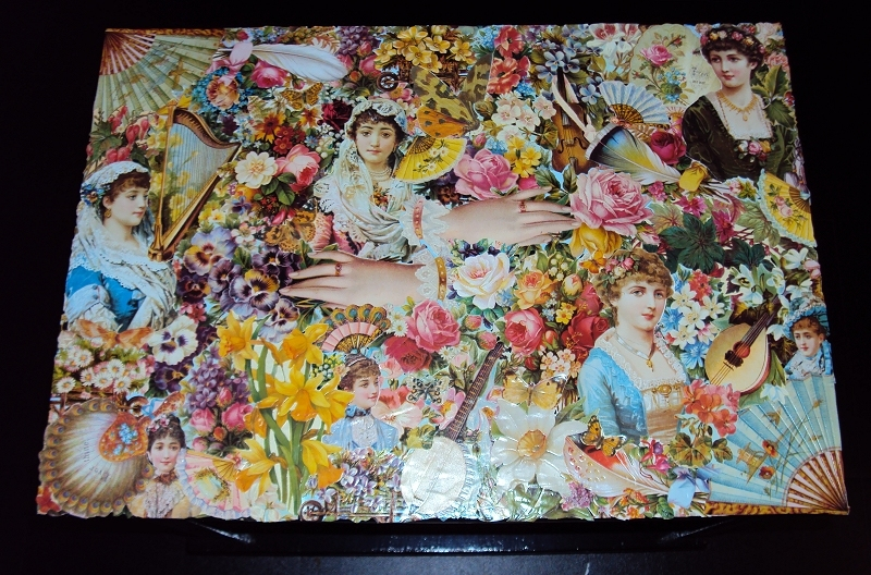 Use Your Spare Wallpaper Strips to Decoupage Fashion Wallpaper 800x528