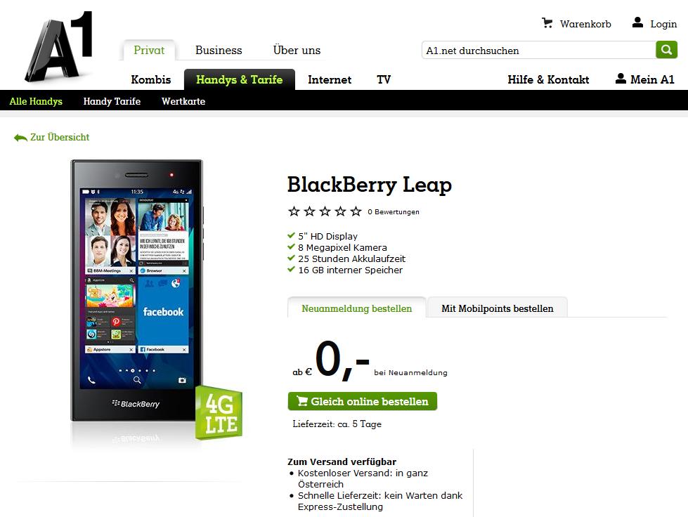 dem BlackBerry Leap ist das neuste Smartphone aus dem Hause BlackBerry 979x736