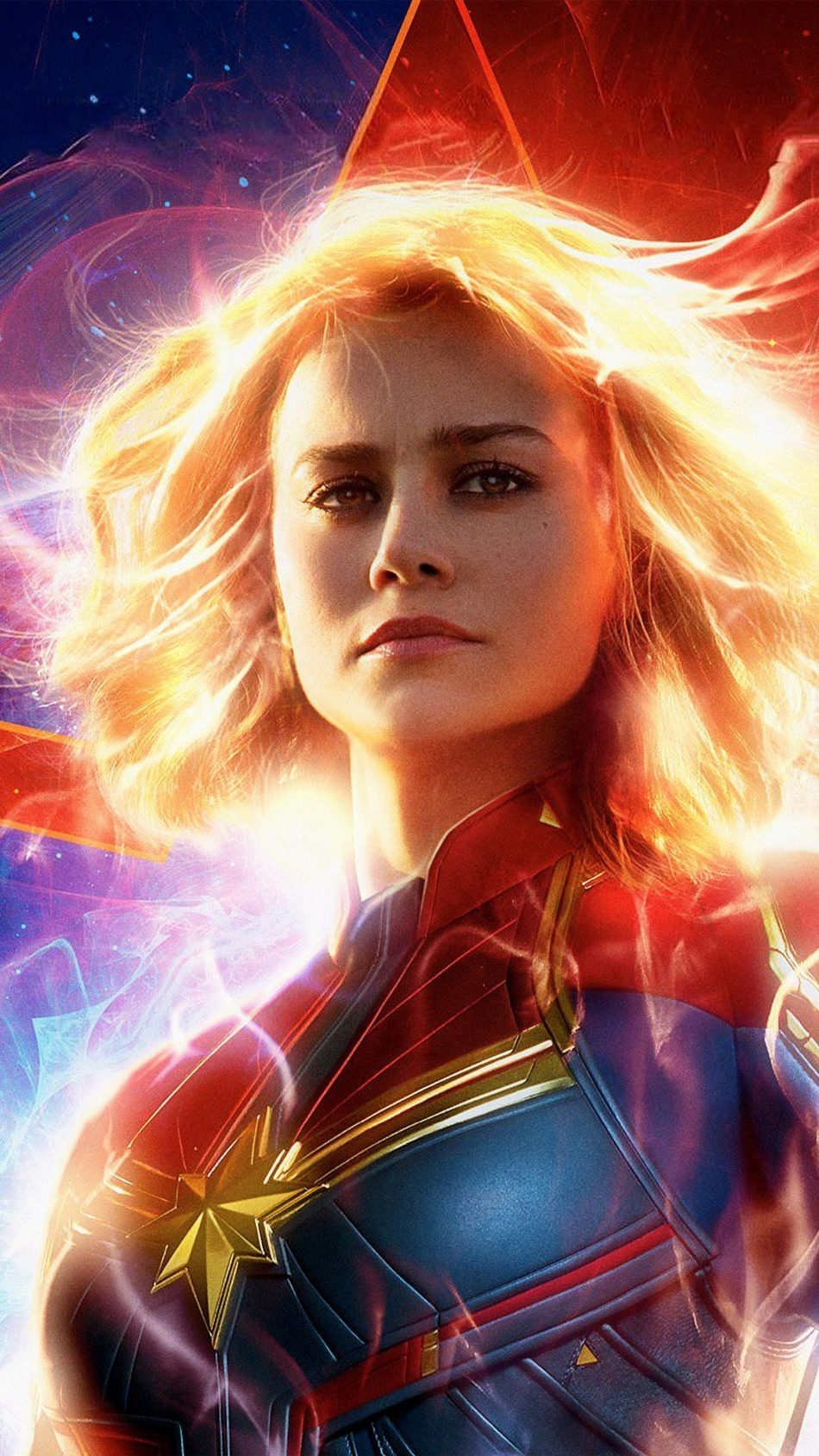 Download Brie Larson In As Captain Marvel 2019 Pure 4K 950x1689