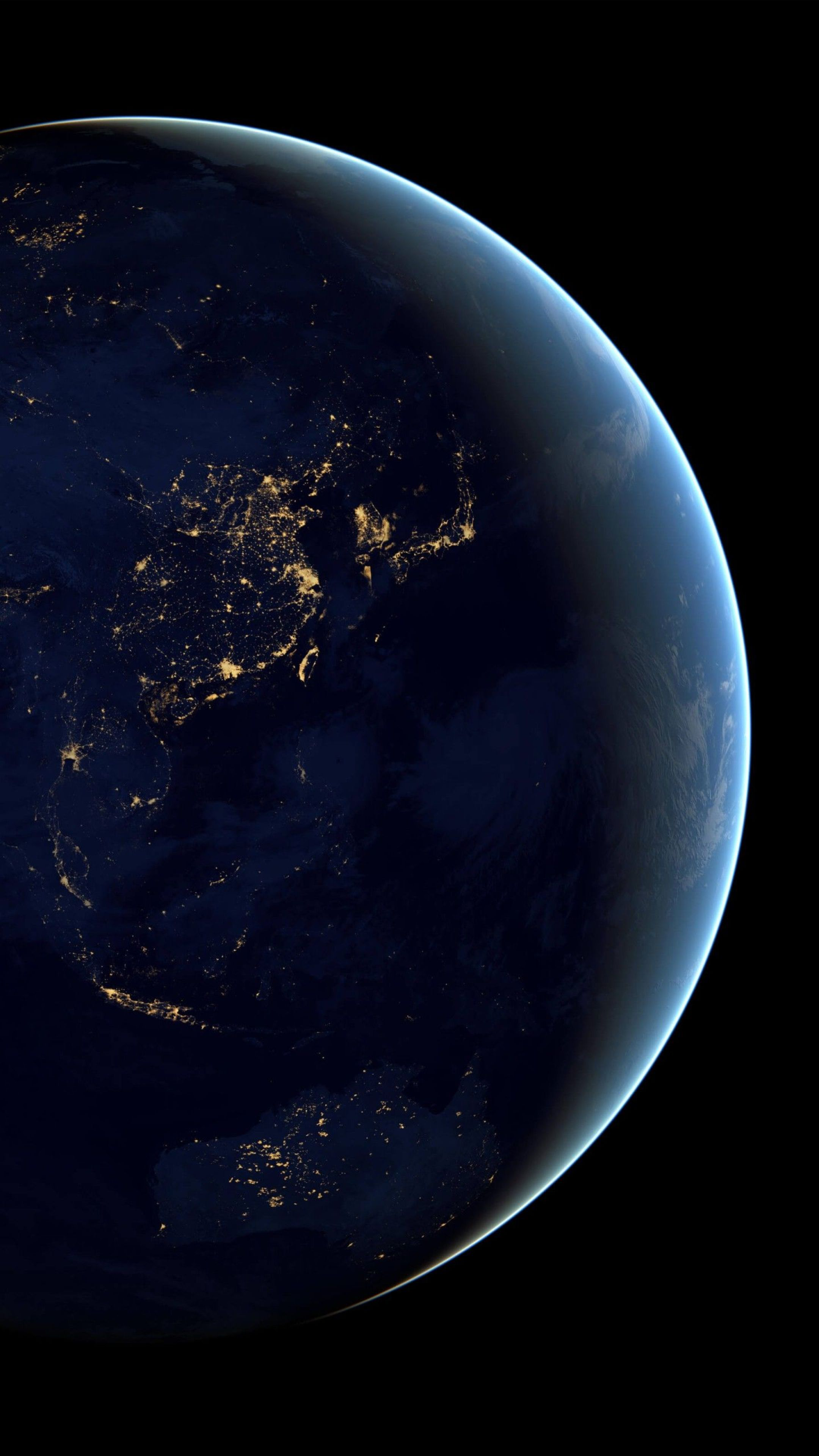 Earth From Space Mobile Wallpaper Picture Image 2160x3840