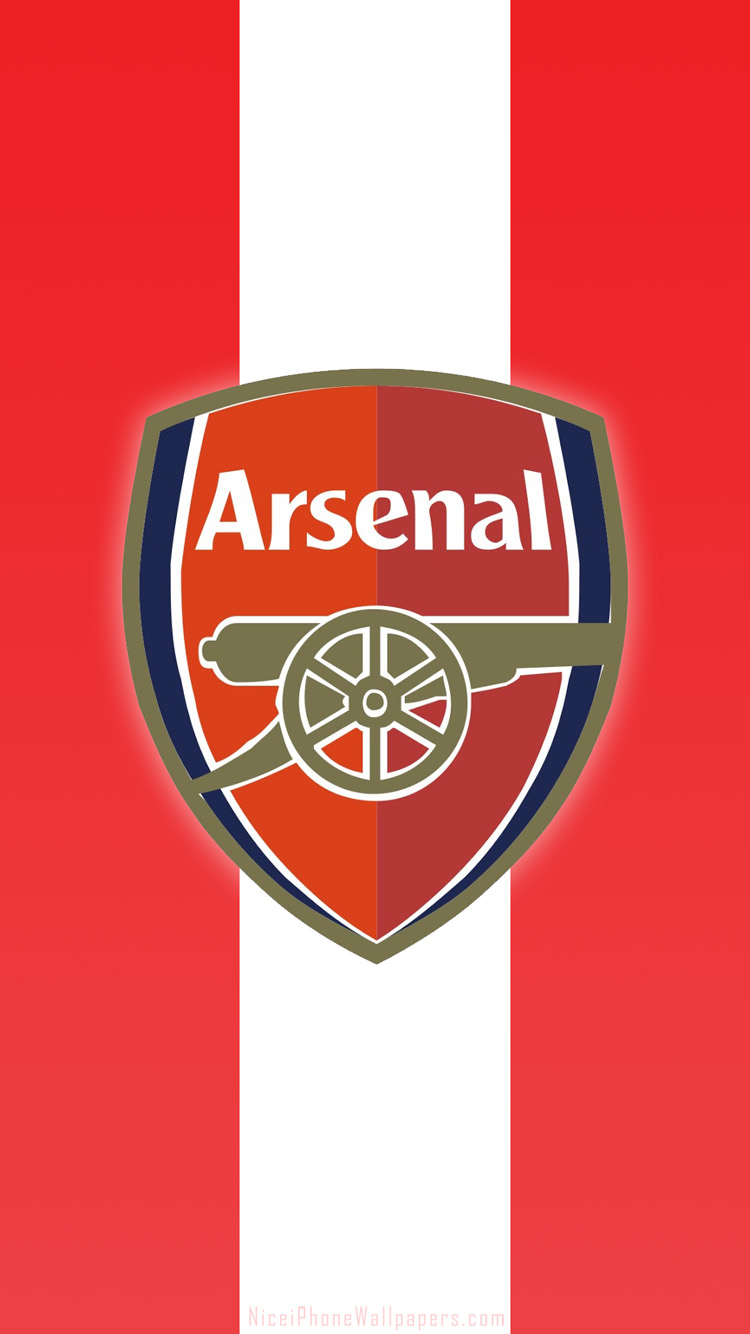 Arsenal FC logo HD wallpaper for iPhone 66 plus 750x1334