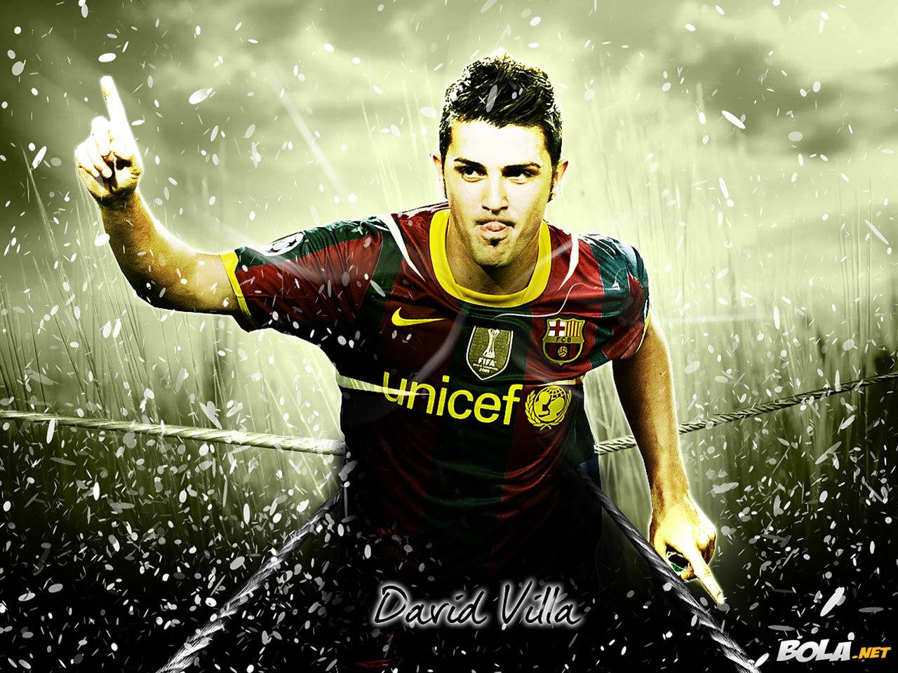 Imgenes de FC Barcelona Fondos de Pantalla de David Villa 1280x960
