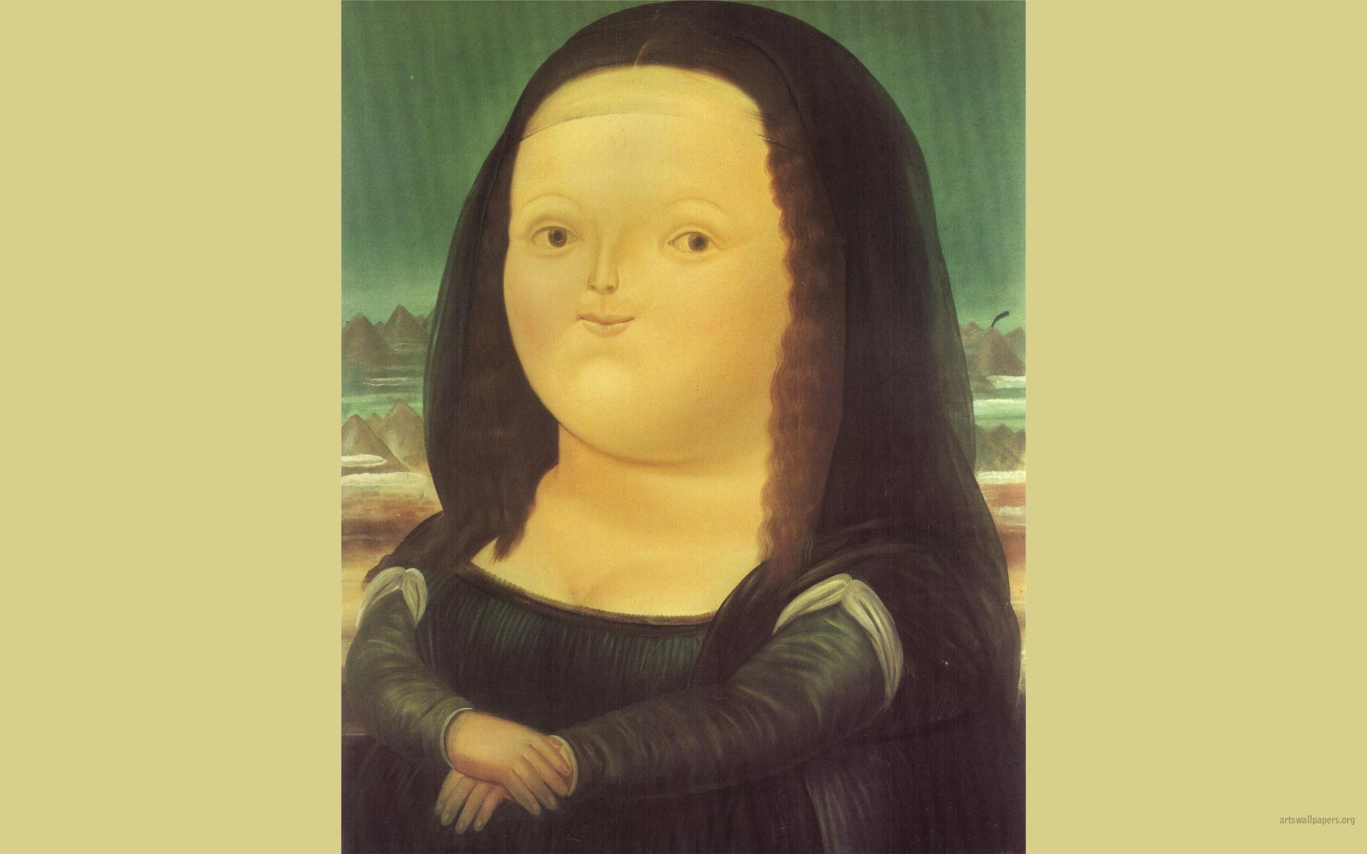 Mona Lisa   Fernando Botero Wallpaper Painting Art Wallpaper 1920x1200