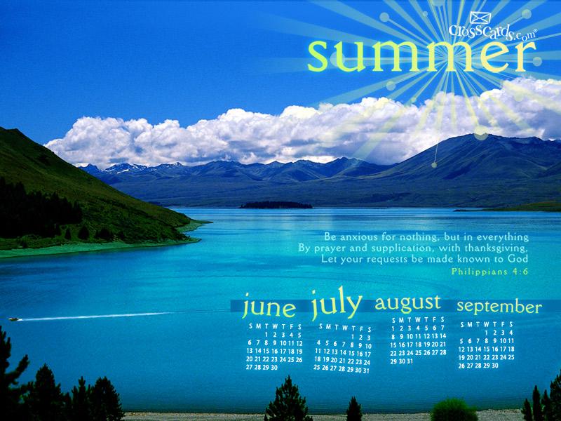 Summer 2010 Desktop Calendar Free Monthly Calendars Wallpaper