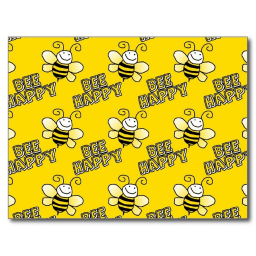 Bee Pattern Postcards 512x512