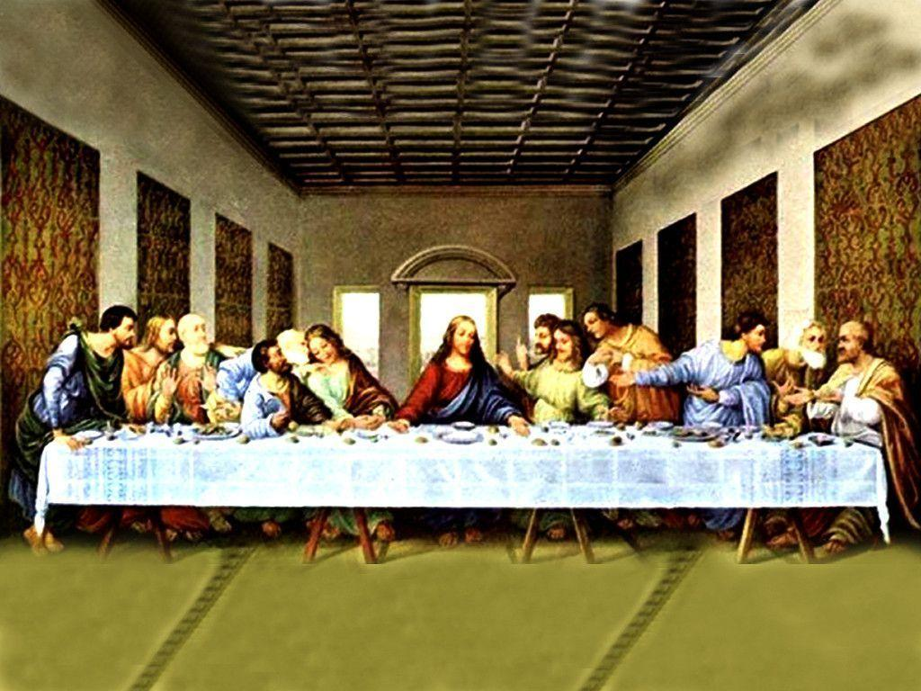 Pics Photos   Last Supper Wallpaper 1024x768
