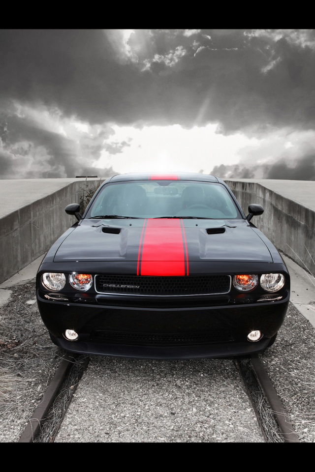 2012 Dodge Challenger Rallye Redline Front Iphone 4 wallpaper 640x960