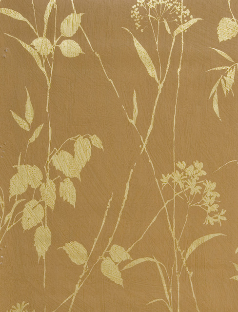 Brewster Orange Floral Wallpaper   Contemporary   Wallpaper   by 488x640