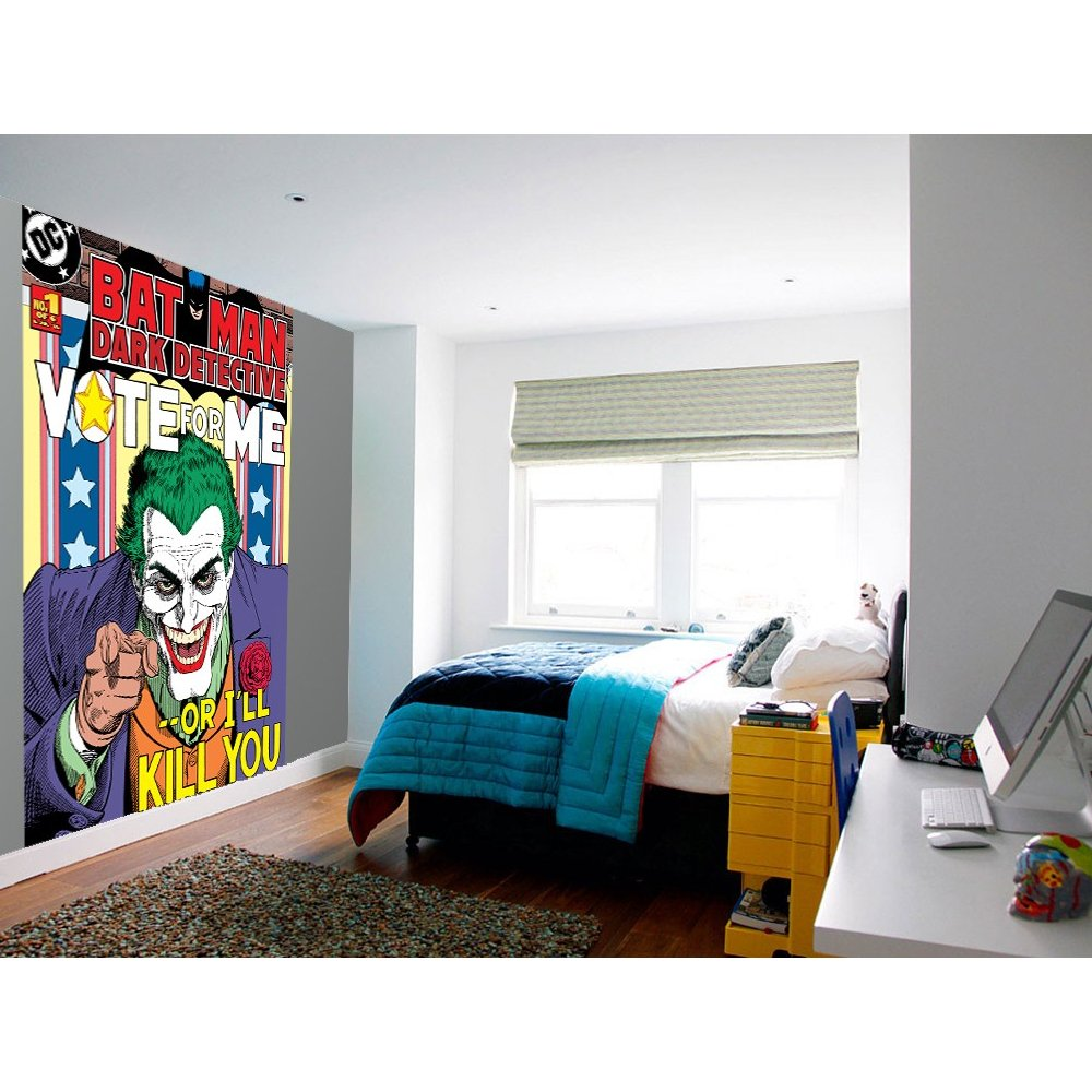 Home Murals 1 Wall 1 Wall Easy Hang Wallpaper Mural Joker 1000x1000