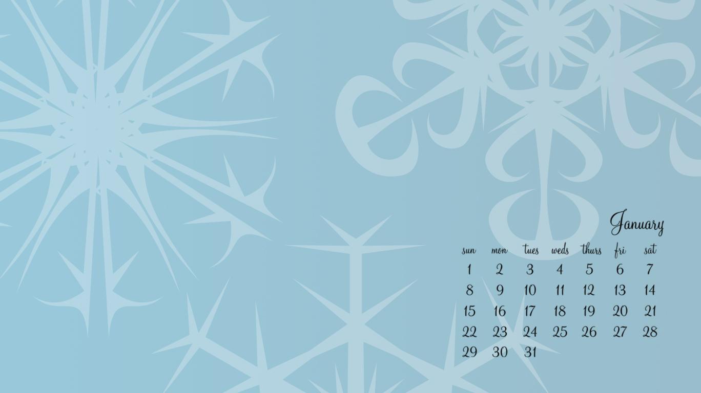 January Desktop Wallpaper No Picture 1368 X 768 JPG January 1368x768