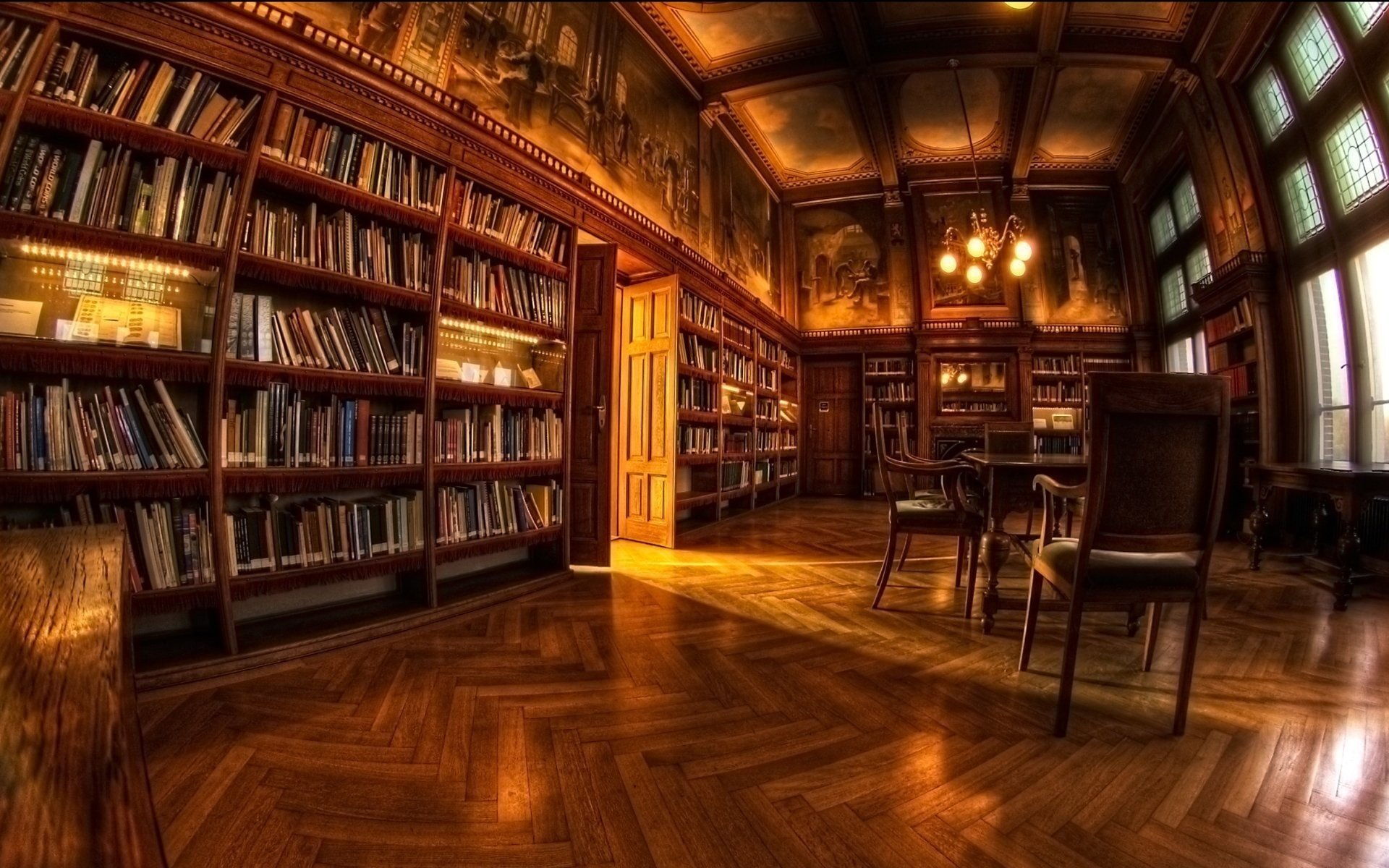 Wallpaper interior room library book desktop wallpaper Other 1920x1200