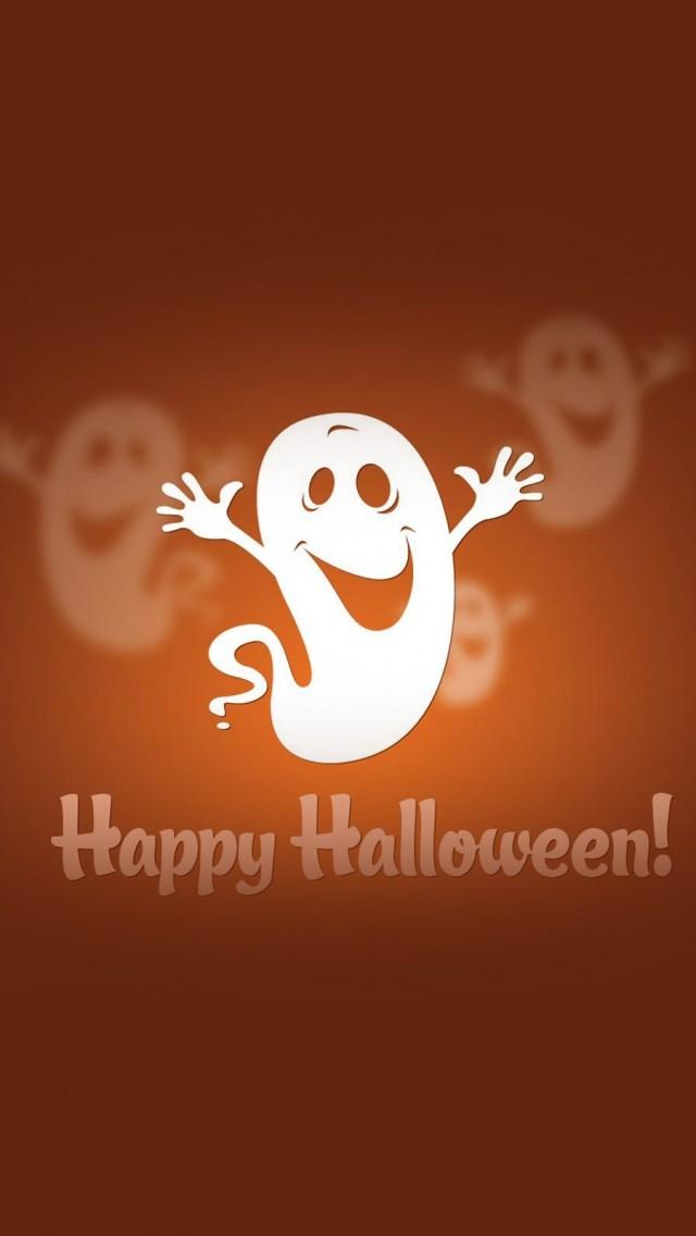 Cute Halloween Ghost Wallpaper   iPhone Wallpapers 640x1136