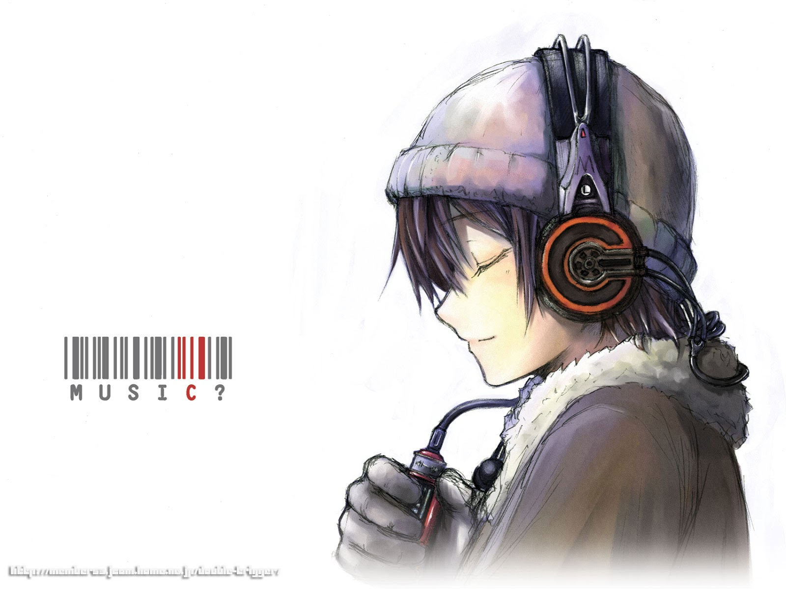Free download anime guy male listening headset hd ...