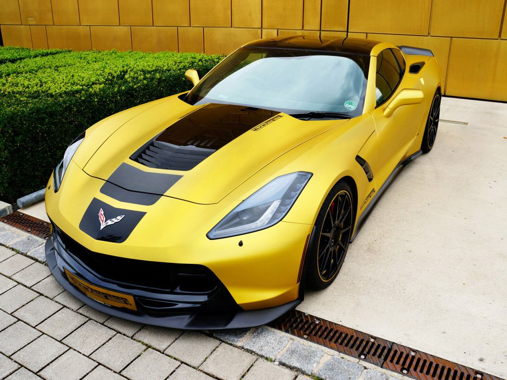 Chevrolet Corvette Stingray Yellow wallpaper HD Desktop Wallpaper 1024x768