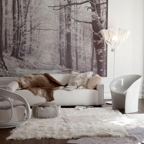 Winter inspired living room wallpaper wallpaper designs 550x550