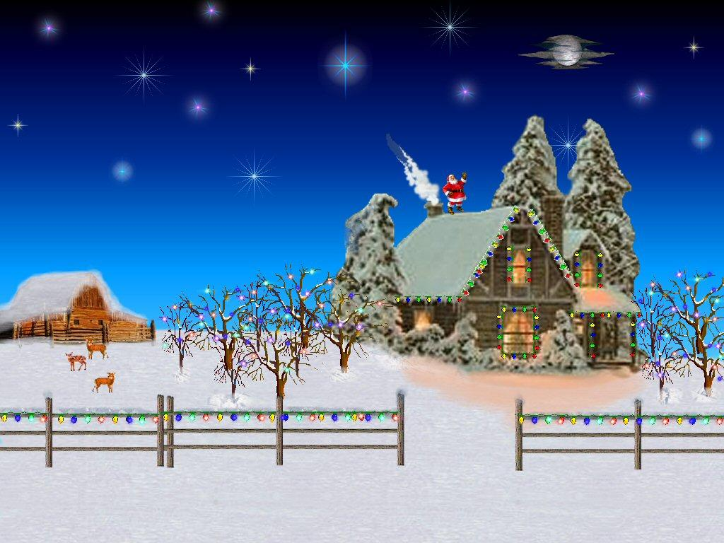 Cozy Winter Night Wallpaper 1024x768 1024x768