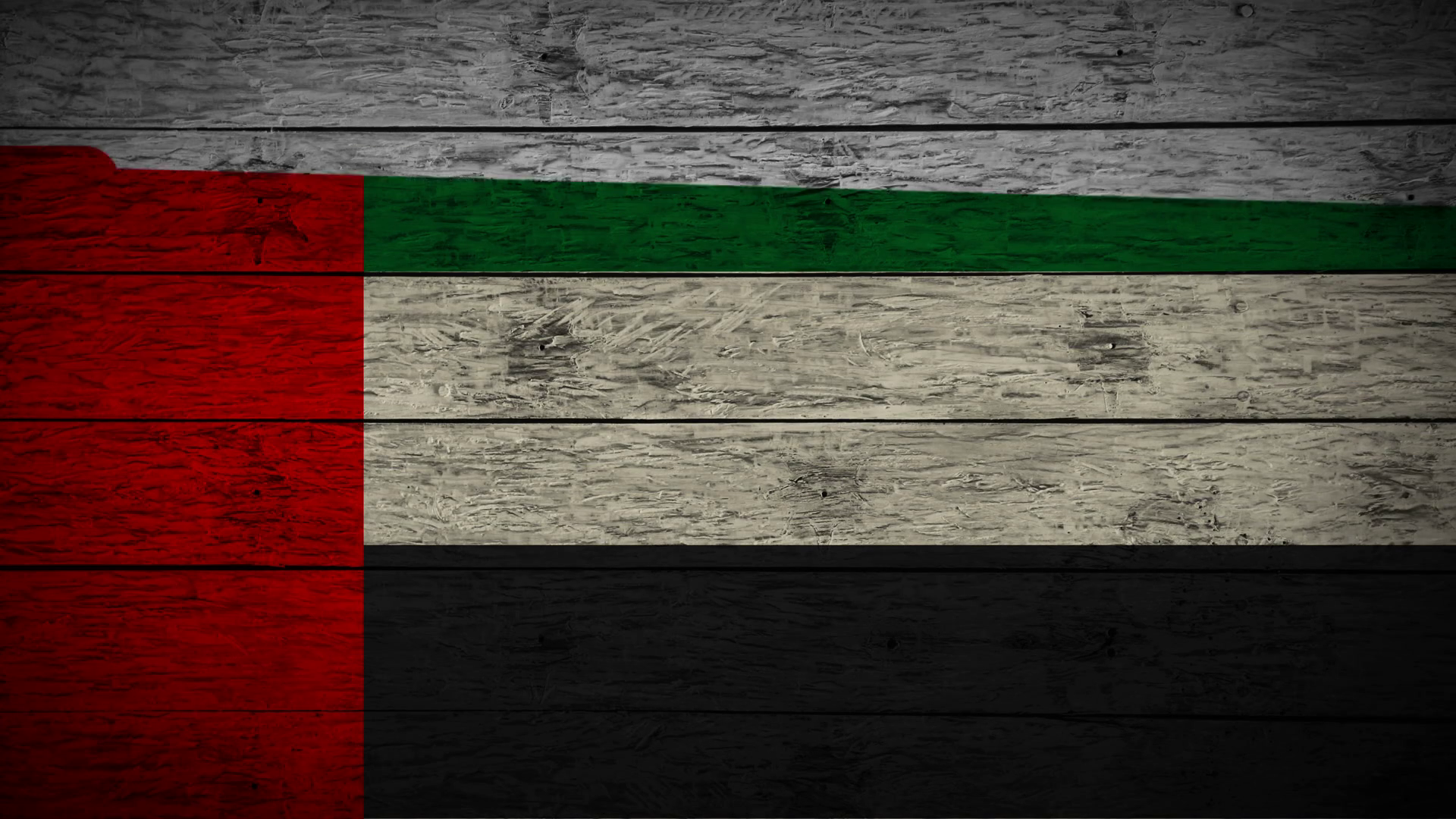 Painting Flag of UAE on old wood boards With four different ways 1920x1080